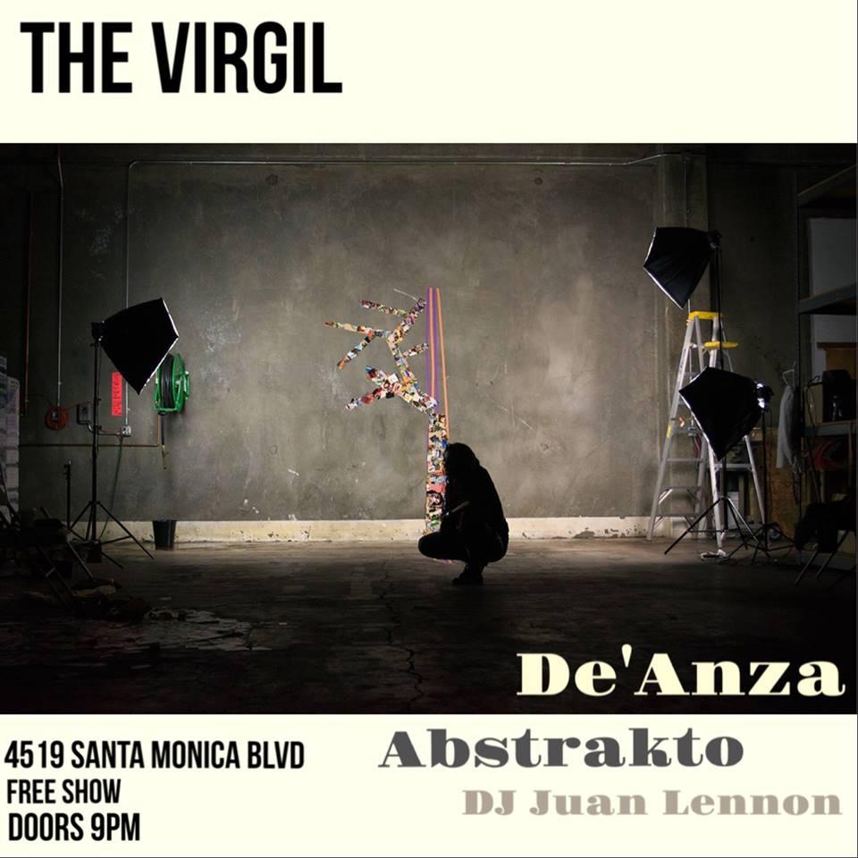 Abstrakto / De' Anza/ Juan Lennon Show at The Virgil