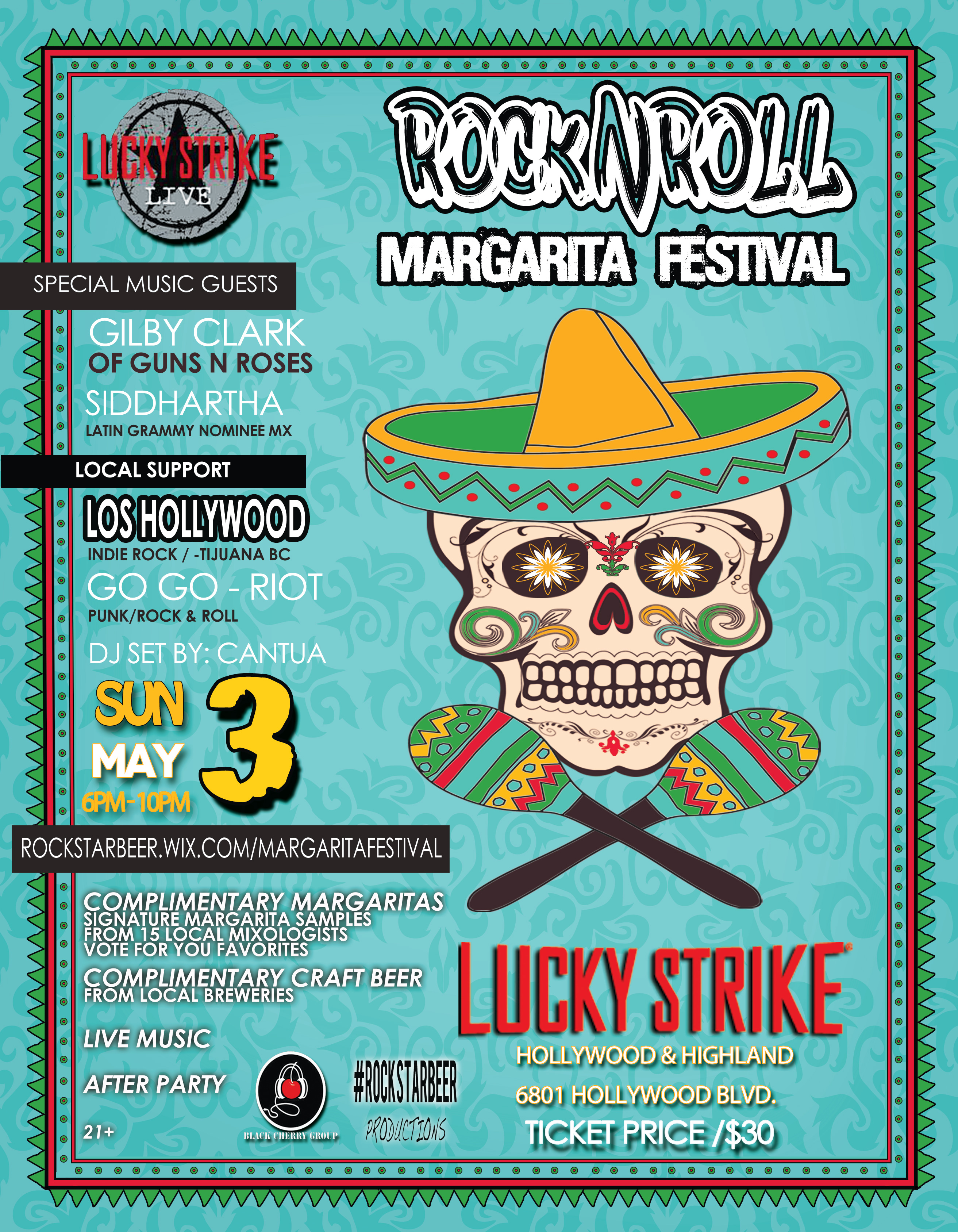 Margarita Festival in Hollywood w/ Siddartha Los Hollywood Giveaway tickets by Gypset Magazine
