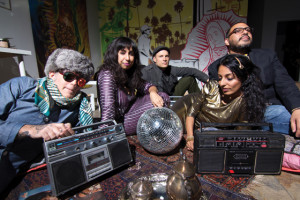 Discostan crew: Kirk Gee, Sasha Ali, Jeremy Loudenback, Arshia Haq, David Gomez, at Espacio 1839