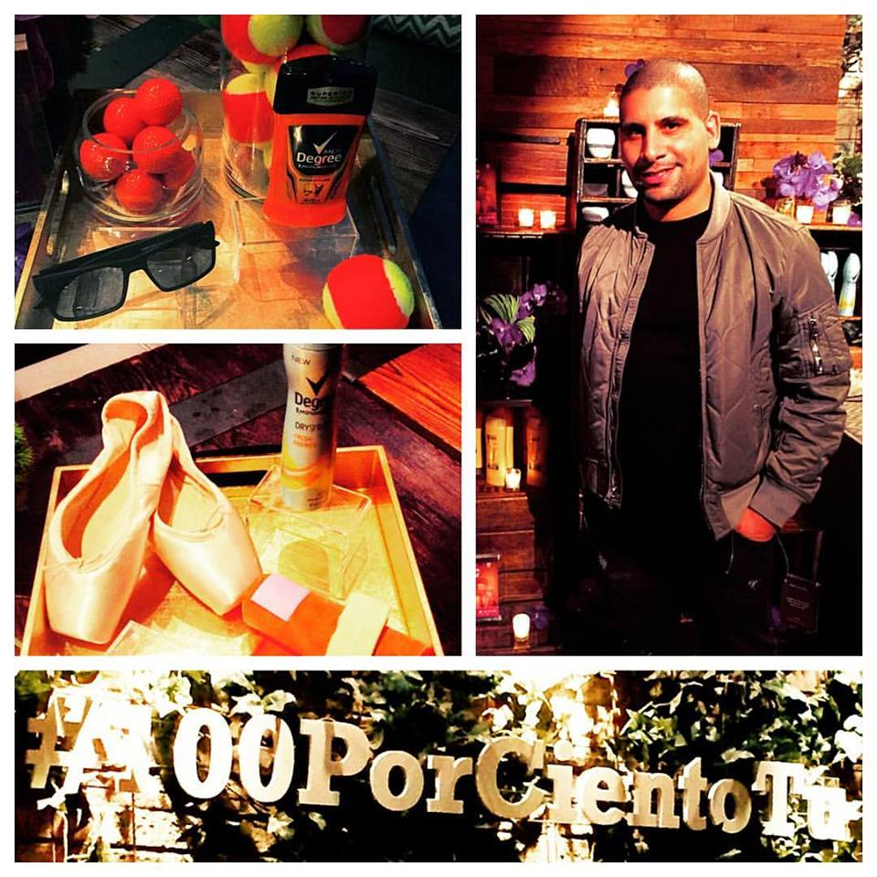 "#100PorCientoTu celebrating Latinos passion for music and beauty with celebrity groomer Marcos ""Reggae"" Smith at the pre-concert VIP in the Gansevoort Park - Garden Theater. Hearing about awesome products and grooming trends before heading out to The Fenix Tour - Nicky Jam NYC!"