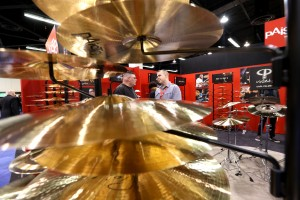 """""""ANAHEIM, CA - JANUARY 22:  Exhibitors display their merchandise during day 2 of the 2016 NAMM Show at the Anaheim Convention Center on January 22, 2016 in Anaheim, California.  (Photo by Jesse Grant/Getty Images for NAMM)"""""""