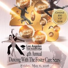 A night of spectacle and jubilee promises to grace LATTC's 4th Annual Dancing With The Foster Care Stars fundraising gala for their Guardian Scholars Program at Steven's Steakhouse on May 6