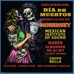 Morrissey headlines a sold out 4th Annual Dia De Los Muertos Celebration at Santa Barbara Bowl