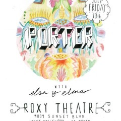 Enter our GIVE AWAY for a chance to win tickets for PORTER and ELSA Y ELMAR FRIDAY 10th