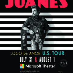 Gypset Magazine is giving away tickets to see Juanes at Microsoft Theater (formerly Nokia Theatre L.A. LIVE) July 31st and August 1st!!!