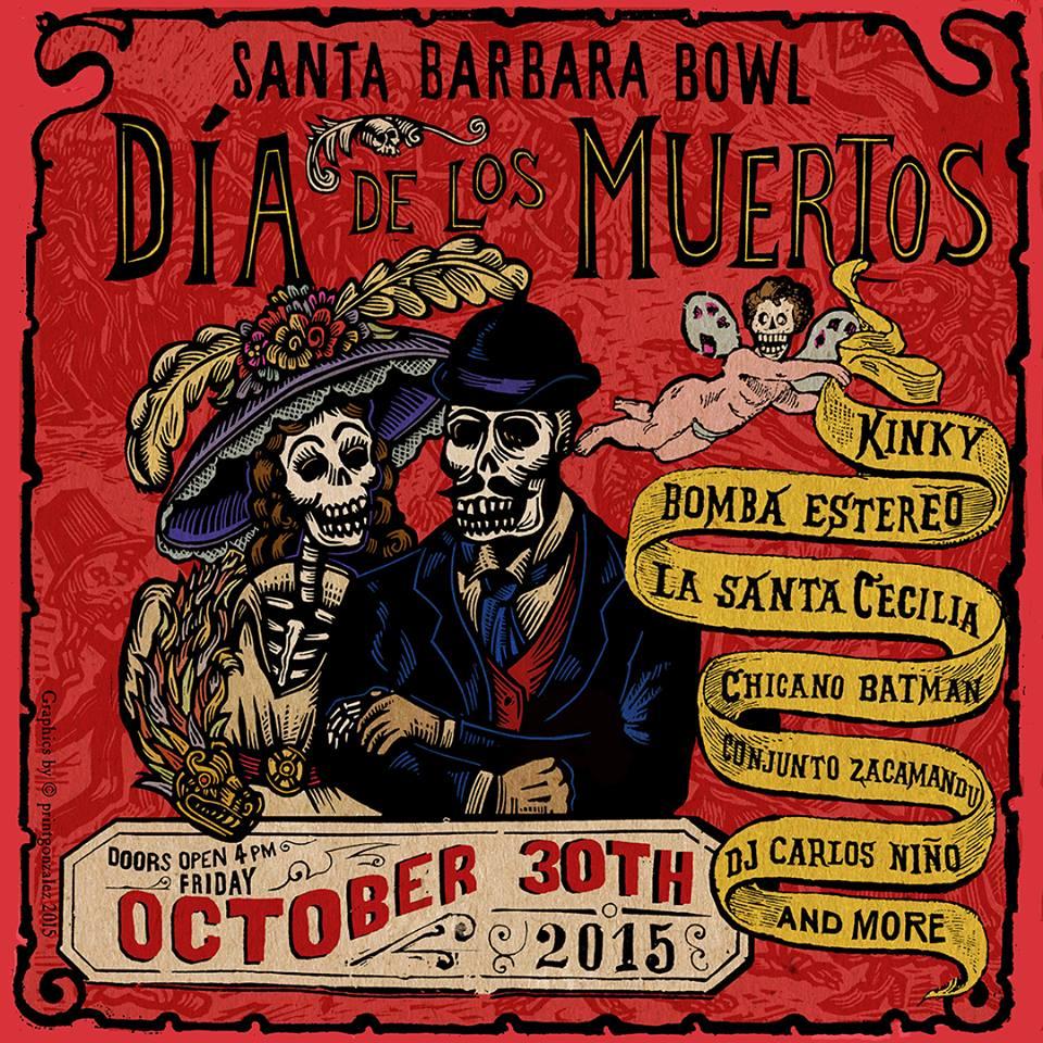 Dia De Los Muertos on Oct 30th at Santa Barbara Bowl