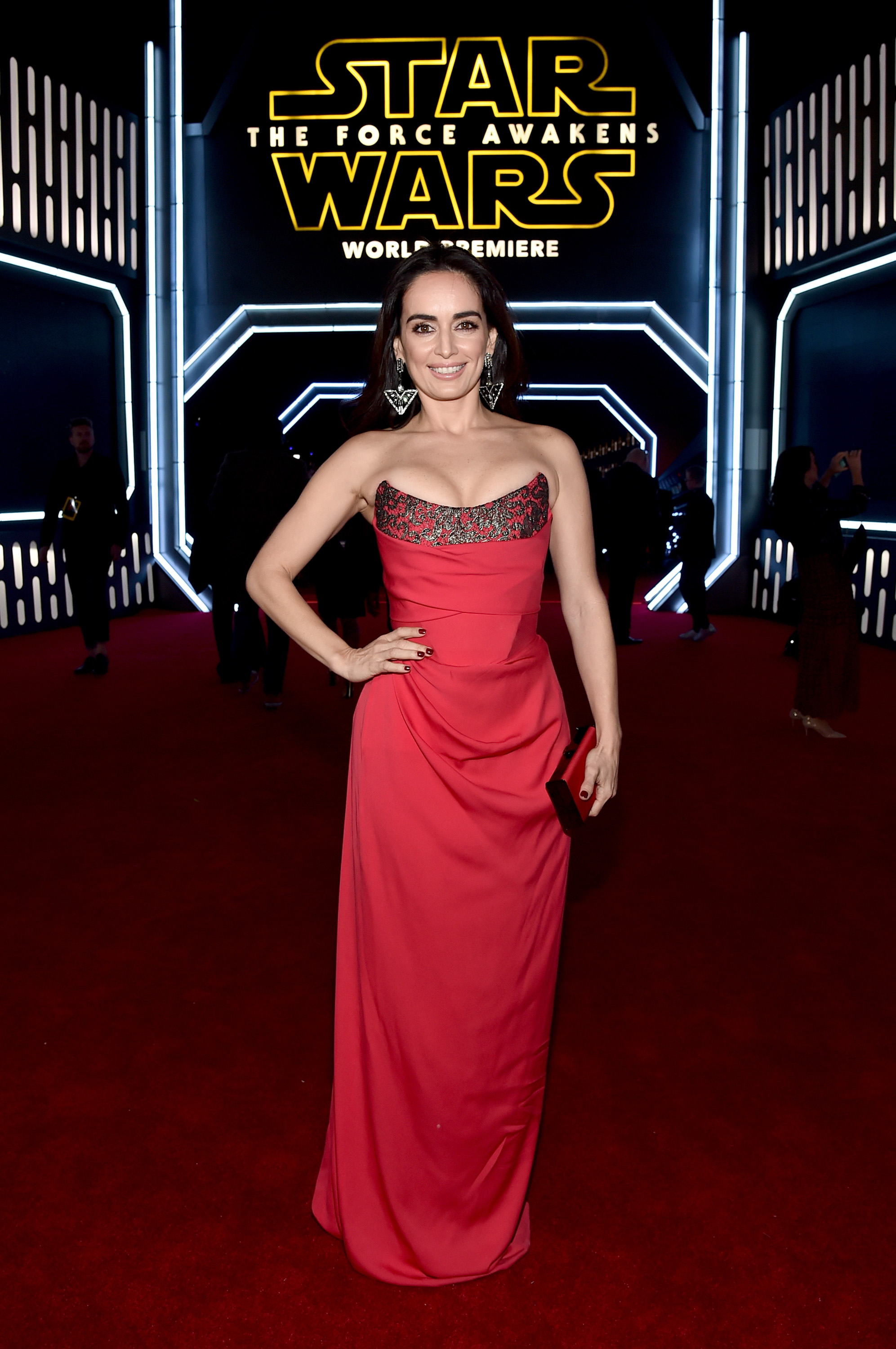 HOLLYWOOD, CA - DECEMBER 14:  Actress Ana de la Reguera attends the World Premiere of ?Star Wars: The Force Awakens? at the Dolby, El Capitan, and TCL Theatres on December 14, 2015 in Hollywood, California.  (Photo by Alberto E. Rodriguez/Getty Images for Disney) *** Local Caption *** Ana de la Reguera