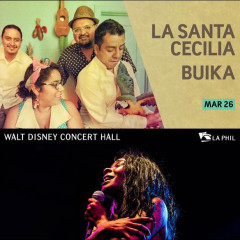 Amigos! L.A.'s very own La Santa Cecilia is performing at The Walt Disney Concert Hall on March 26th along with the great, Buika!