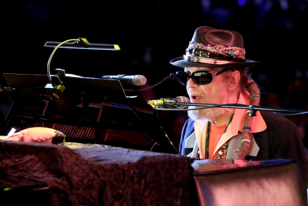 """ANAHEIM, CA - JANUARY 22:  Dr. John performs on stage during day 2 of the 2016 NAMM Show at the Anaheim Convention Center on January 22, 2016 in Anaheim, California.  (Photo by Jesse Grant/Getty Images for NAMM)"""