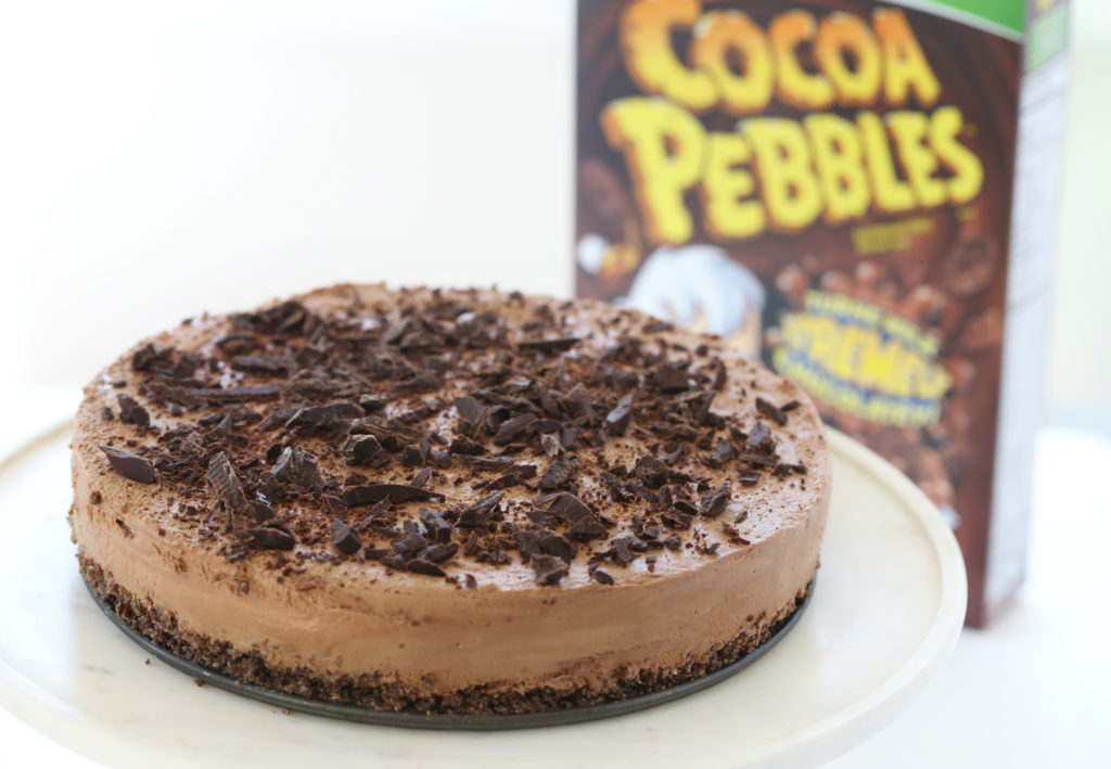 Cocoa-Pebbles-Crunch-Triple-Chocolate-No-Bake-Cheesecake-Melissa-Bailey-withproduct-horizontal-2