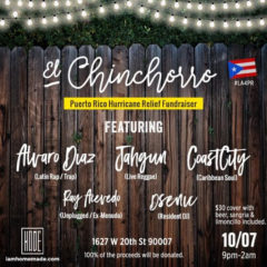 COASTCITY just added to HomeMade's El Chinchorro – Puerto Rico Hurricane Relief Fundraiser this Saturday October 7th in LA!