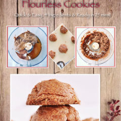 Pumpkin Spice Flourless Cookies