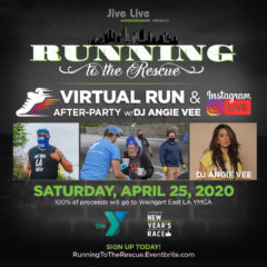 """Running to the Rescue"" Virtual Run +Live DJ Party"