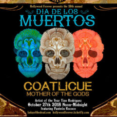 Hollywood Forever's 19th Annual Day of The Dead Artist of The Year Tino Rodriguez